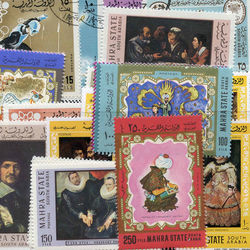 world stamp packets countries in a