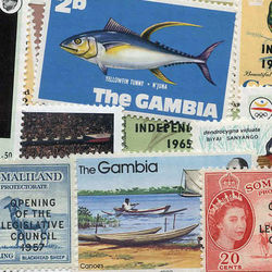 world stamp packets countries in g
