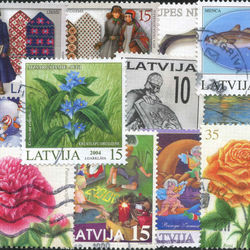 world stamp packets countries in l