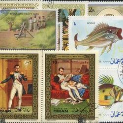 world stamp packets countries in o