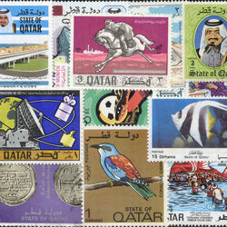 world stamp packets countries in q
