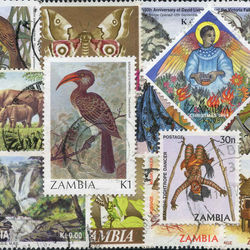 world stamp packets countries in z
