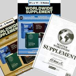 annual supplements for world stamp albums