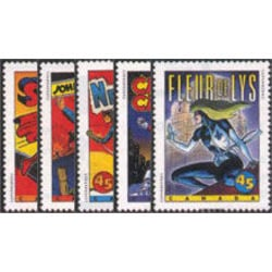 canada stamp 1579 83 comic book superheroes 1995