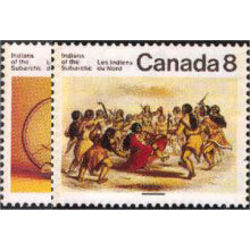 canada stamp 574 5 subarctic indians 1975
