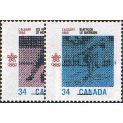 Canada stamp 1111 2 1988 olympic winter games 1986