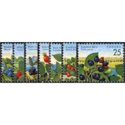 canada stamp 1349 55 edible berries definitives 1992 1998 1992