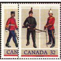 Canada stamp 1007 8 army regiments 1983