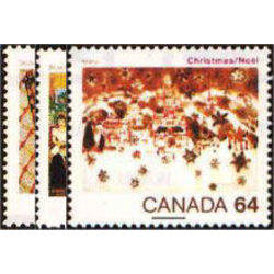 Canada stamp 1040 42 christmas 1984