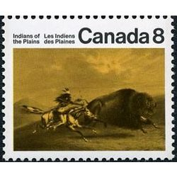 Canada stamp 562 buffalo chase 8 1972