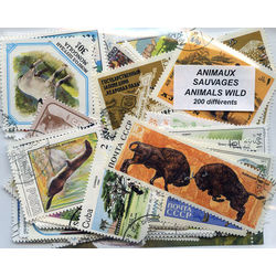 animals wild on stamps