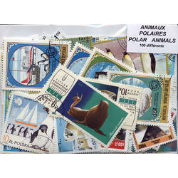 Animals polar on stamps