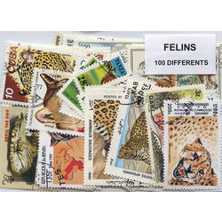 felines on stamps