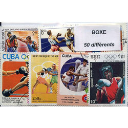 Boxing on stamps