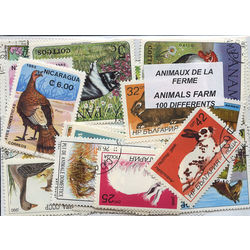 Animals farm on stamps