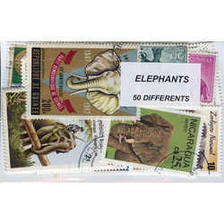 elephants on stamps