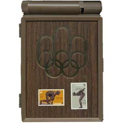 olympic stamp souvenir case