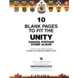 blank pages for the unity canada stamp album