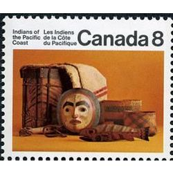 Canada stamp 571 pacific coast artifacts 8 1974