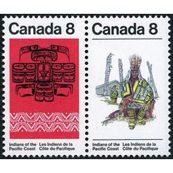 canada stamp 573a pacific coast indians 1974