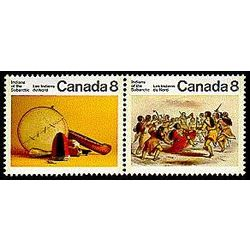 canada stamp 575a subarctic indians 1975