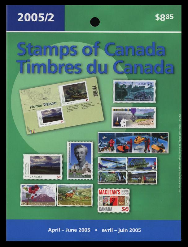 2005 paralysie compl/ète.Edition. Sant/é Canada mer.-no.: 2292 Timbres pour Les collectionneurs