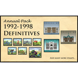 canada complete definitives set 1992 1998 mint