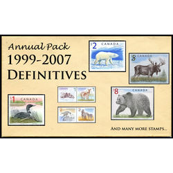 Canada complete definitives set 1999 2007 mint