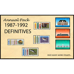 canada complete definitives set 1987 1992 mint