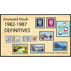 canada complete definitives set 1982 1987 mint