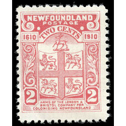 newfoundland stamp 88c coat of arms 2 1910
