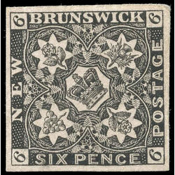 new brunswick stamp nb2p pence issue 6d 1851