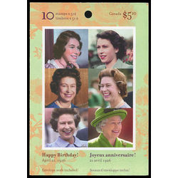 canada stamp complete booklets bk bk321 booklet queen elizabeth ii 80th birthday 2006