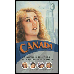 canada stamp complete booklets bk bk327 booklet canadians in hollywood 2006