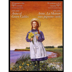 canada stamp complete booklets bk bk380 booklet anne of green gables 2008