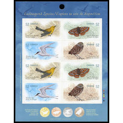 canada stamp complete booklets bk bk388 booklet endangered species 3 2008