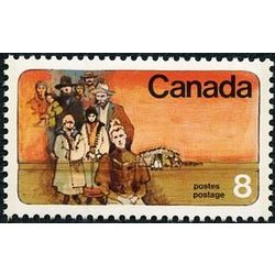 Canada stamp 643 mennonite settlers 8 1974