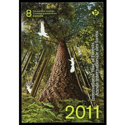 canada stamp complete booklets bk bk452 booklet international year of forests 2011