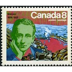 canada stamp 654 marconi and signal hill 8 1974