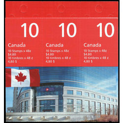 canada stamp complete booklets bk bk251 flag over canada post head office 2002