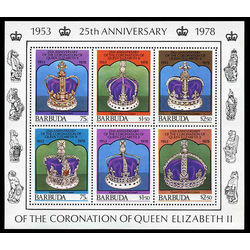 barbuda stamp 348 coronation queen 1978