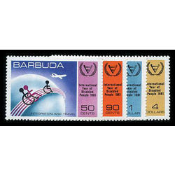barbuda stamp 502 05 year of the disabled 1981