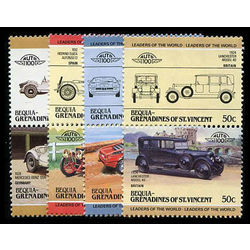 bequia of st vincent stamp 91 101 111 124 125 mint automobiles inc 1983