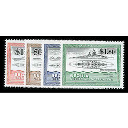 bequia of st vincent stamp 186 9 boats 1985