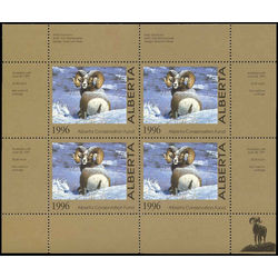 alberta conservation fund stamp awf1b big horn sheep by tom mansanarez 1996