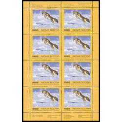 nova scotia wildlife federation stamp nsw4f coyote by tom mansanerez 1995