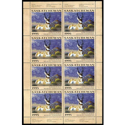 saskatchewan wildlife federation stamp sw6f antelopes by tom mansanarez 1995