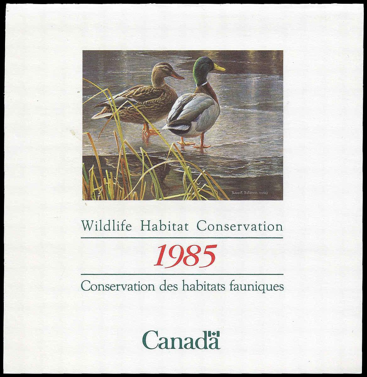 Buy Canadian Wildlife Fwh1 Mallards 1985 4 Arpin Philately
