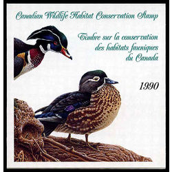 canadian wildlife habitat conservation stamp fwh6 wood ducks 7 50 1990
