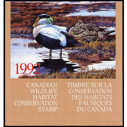canadian wildlife habitat conservation stamp fwh8 eider duck 8 50 1992